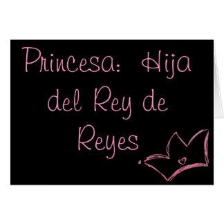 Princesa:  Hija del Rey de Reyes Stationery Note Card