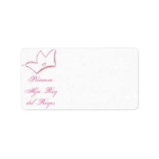 Princesa: Hija del Rey de Reyes Label