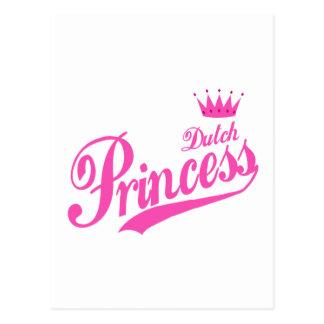 Princesa holandesa tarjeta postal