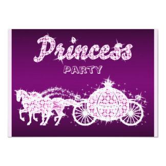 """Princesa Horses y fiesta de cumpleaños del carro Invitación 4.5"""" X 6.25"""""""