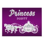 Princesa Horses y fiesta de cumpleaños del carro Invitación 11,4 X 15,8 Cm