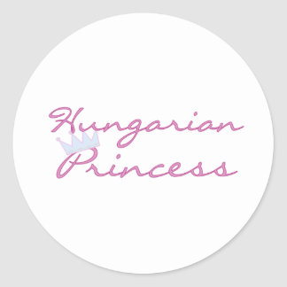 Princesa húngara etiquetas redondas