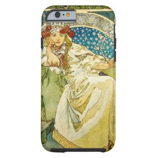 Princesa Hyacinth Art Nouveau de Alfonso Mucha Funda De iPhone 6 Tough