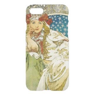 Princesa Hyacinth Art Nouveau de Alfonso Mucha Funda Para iPhone 7