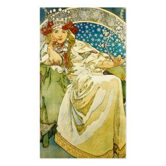 Princesa Hyacinth Art Nouveau de Alfonso Mucha Tarjetas De Visita
