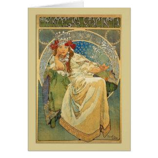Princesa Hyacinth Note de Nouveau del arte o tarje Tarjeta