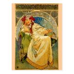 Princesa Hyacinth por Mucha Tarjeta Postal