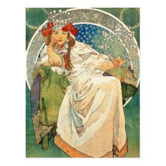 Princesa Hyacinth Postcard de Alfonso Mucha Postal