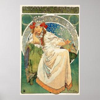 Princesa Hyacinth Poster de Alfonso Mucha Póster