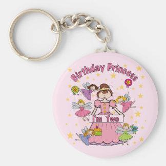 Princesa I del cumpleaños es dos camisetas y regal Llavero Redondo Tipo Pin