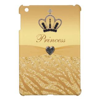 Princesa impresa oro Crown y brillo de la cebra