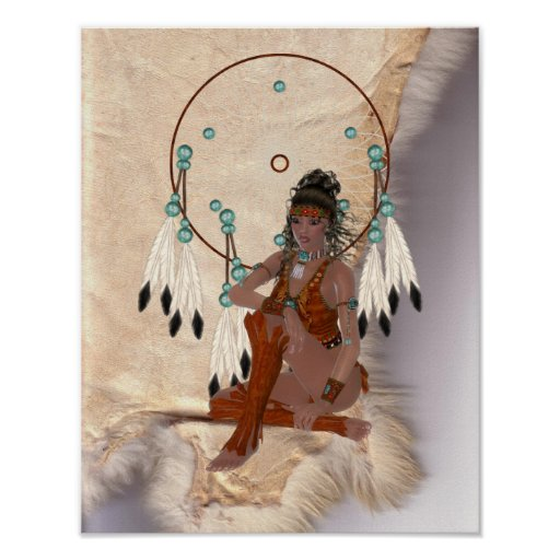 Princesa india americana Dream Catcher Poster