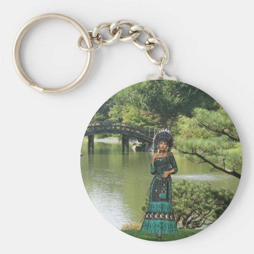 Princesa india llavero personalizado