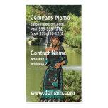 Princesa india plantillas de tarjetas de visita