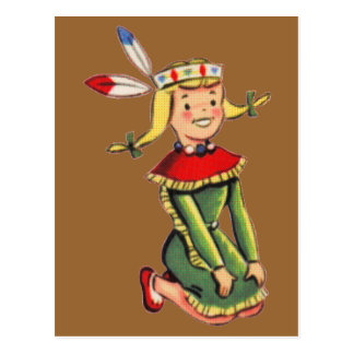Princesa india retra Costume Postal