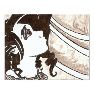 """Princesa Ink de la rana Invitación 4.25"""" X 5.5"""""""