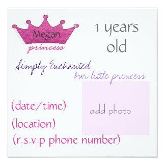 "Princesa Invitación 5.25"" X 5.25"""