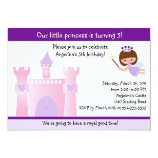 """Princesa/invitación de hadas del cumpleaños del invitación 5"""" x 7"""""""
