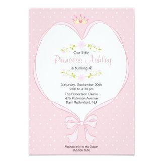 Princesa Invitation del corazón Invitación 12,7 X 17,8 Cm