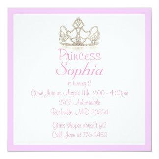 """Princesa Invitation Invitación 5.25"""" X 5.25"""""""