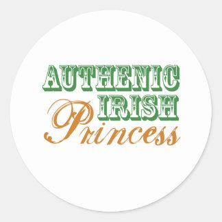 Princesa irlandesa auténtica pegatinas redondas