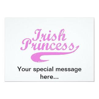"""Princesa irlandesa en rosa invitación 5"""" x 7"""""""