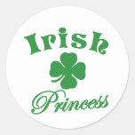 Princesa irlandesa etiquetas redondas