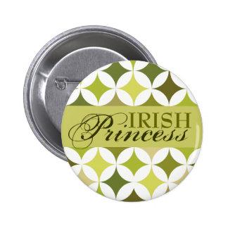 Princesa irlandesa Green Diamonds y círculos Pins