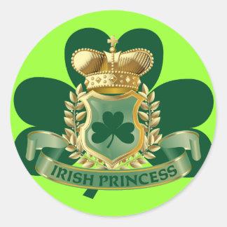 Princesa irlandesa etiqueta redonda