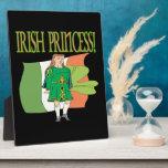 Princesa irlandesa placa de madera