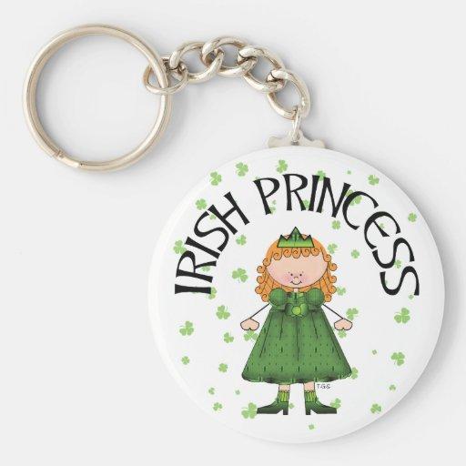 Princesa irlandesa Redhead Llaveros Personalizados
