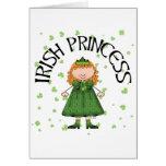 Princesa irlandesa Redhead Tarjeta De Felicitación