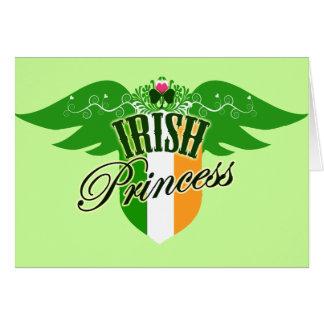 Princesa irlandesa tarjeta de felicitación