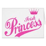 Princesa irlandesa tarjetas