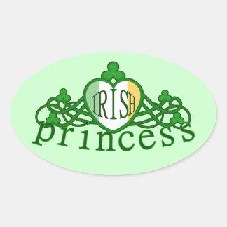 Princesa irlandesa Tiara Sticker del día de St Pegatina Ovalada