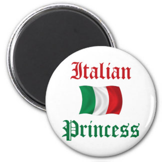 Princesa italiana imán redondo 5 cm