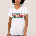 Princesa italiana irlandesa camisetas