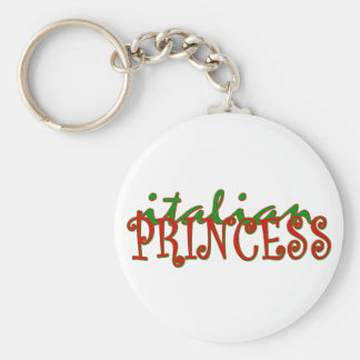 Princesa italiana llavero redondo tipo pin