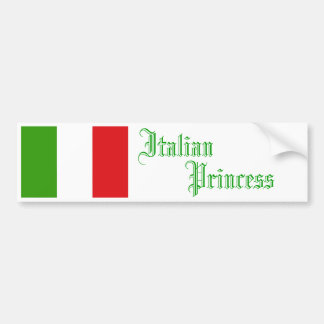 Princesa italiana, pegatina para el parachoques pegatina para auto