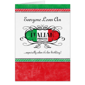 Princesa italiana Personalized Card Felicitaciones