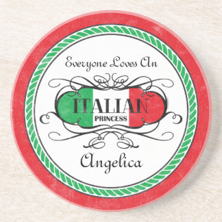 Princesa italiana Personalized Coaster Posavasos Diseño