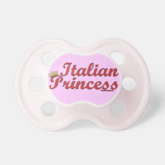 Princesa italiana Pink Pacifier Chupete De Bebé