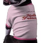 Princesa italiana - rosa ropa de mascota