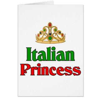 Princesa italiana tarjeta de felicitación