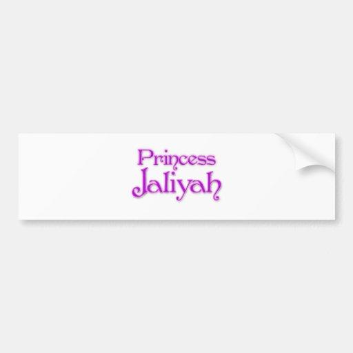 Princesa Jaliyah Pegatina De Parachoque