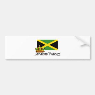 Princesa jamaicana pegatina para auto