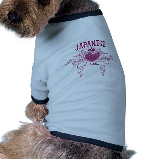 Princesa japonesa camisetas mascota