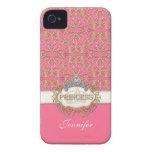 Princesa Jewel Bling Crown Personalized de IPhone  Case-Mate iPhone 4 Cárcasas