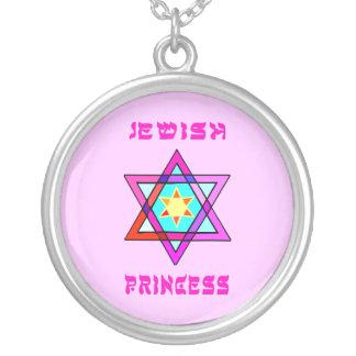 Princesa judía collar plateado