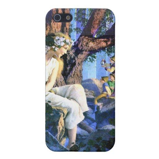 Princesa justa de Maxfield Parrish y los gnomos iPhone 5 Cárcasas